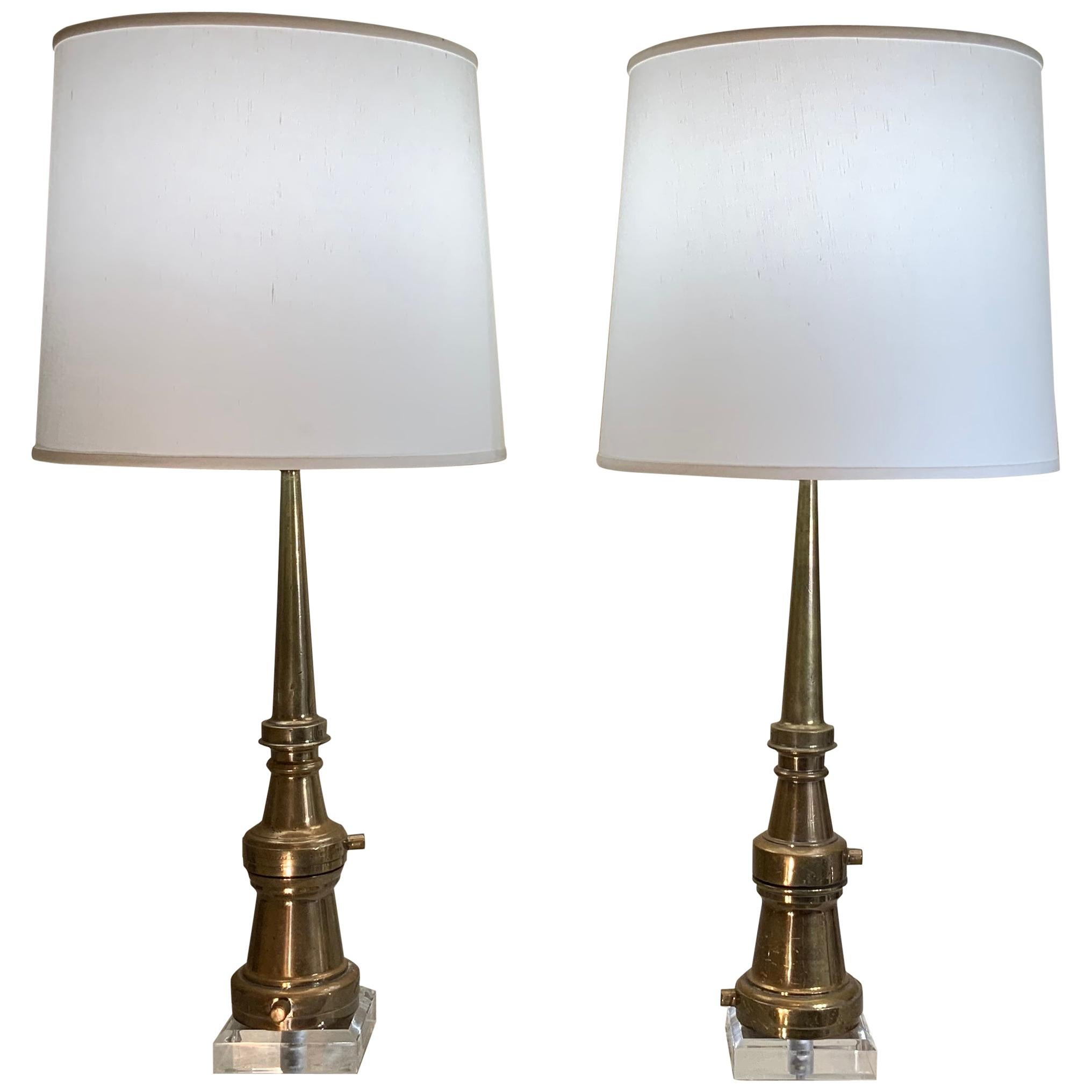 Pair of Midcentury Copper Table Lamps