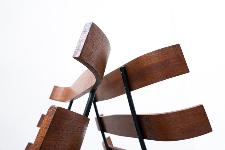 Pair of Mid-Century Costela Lounge Chairs by Carlo Hauner and Martin Eisler For Sale 7
