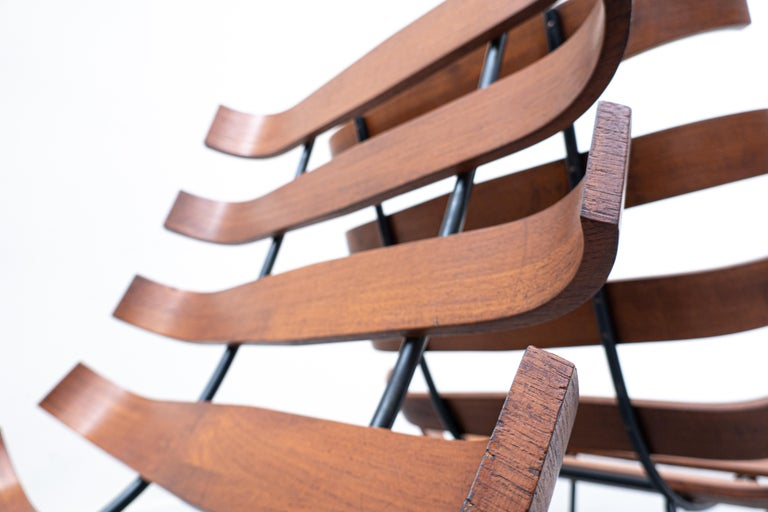 Pair of Mid-Century Costela Lounge Chairs by Carlo Hauner and Martin Eisler For Sale 8