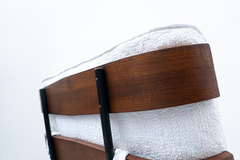 Wood Pair of Mid-Century Costela Lounge Chairs by Carlo Hauner and Martin Eisler For Sale