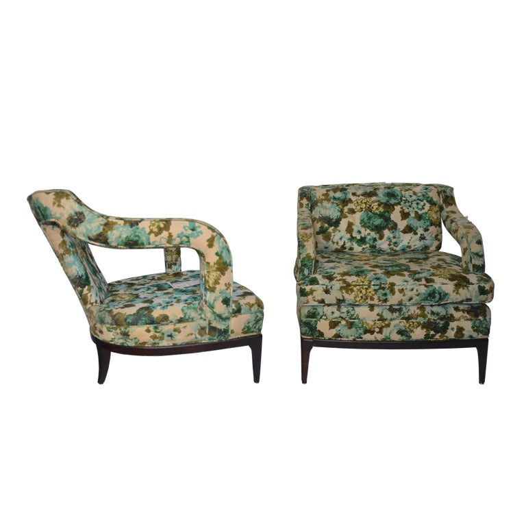 Pair of Midcentury Curvilinear Lounge Chairs by Shaw