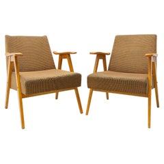 Pair of Mid Century Czechoslovak Armchairs, 1960´s