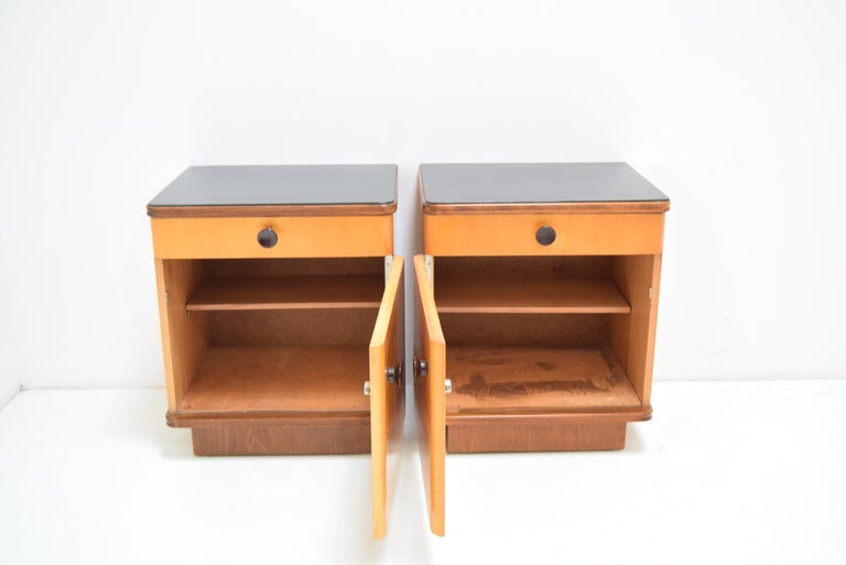 Mid-20th Century Pair of Midcentury Czechoslovakian Bedside Tables, 1960s For Sale