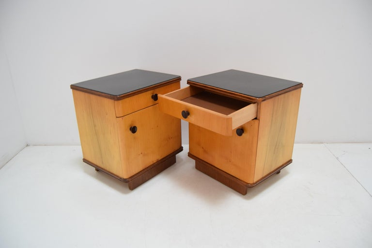 Pair of Midcentury Czechoslovakian Bedside Tables, 1960s For Sale 3
