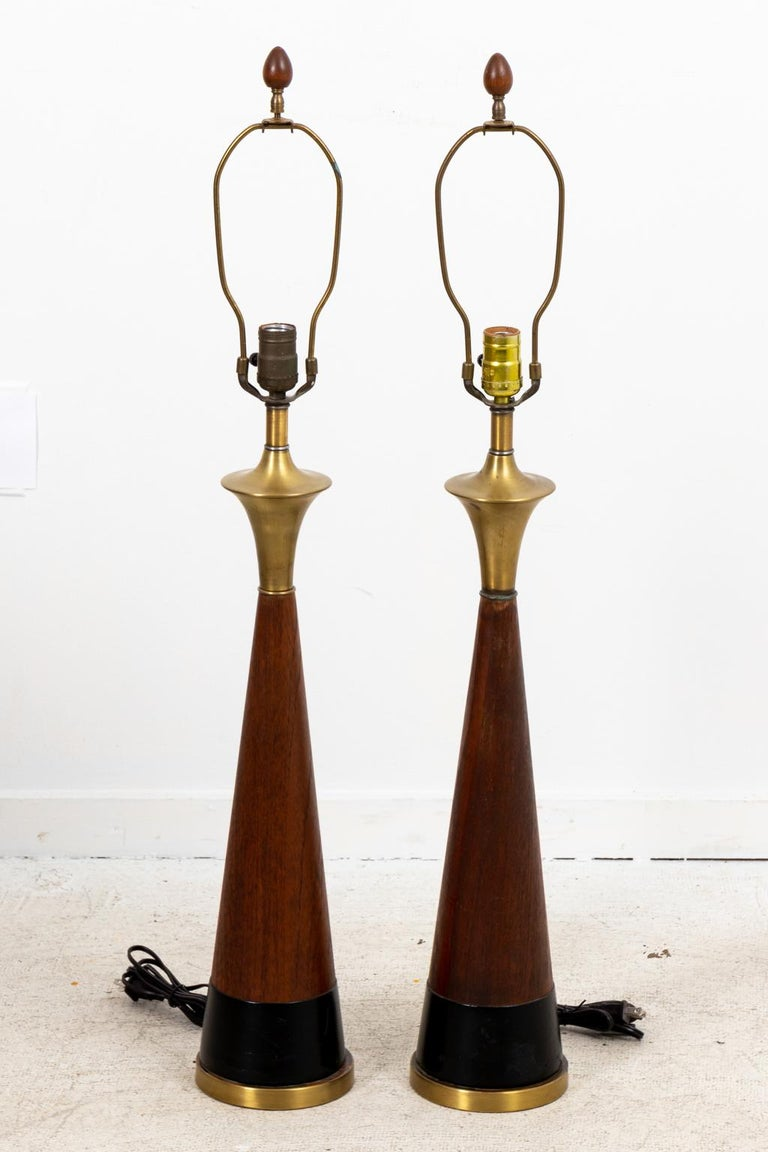 Mid-Century Modern Pair of Mid Century Danish Lamps