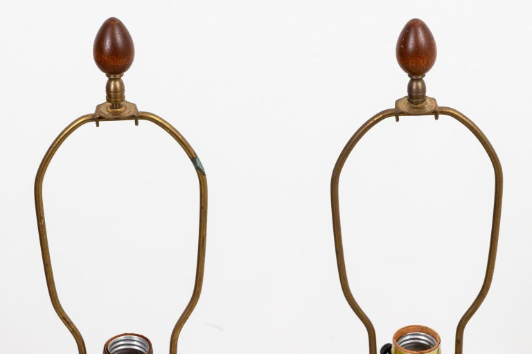 Pair of Mid Century Danish Lamps In Good Condition In Stamford, CT