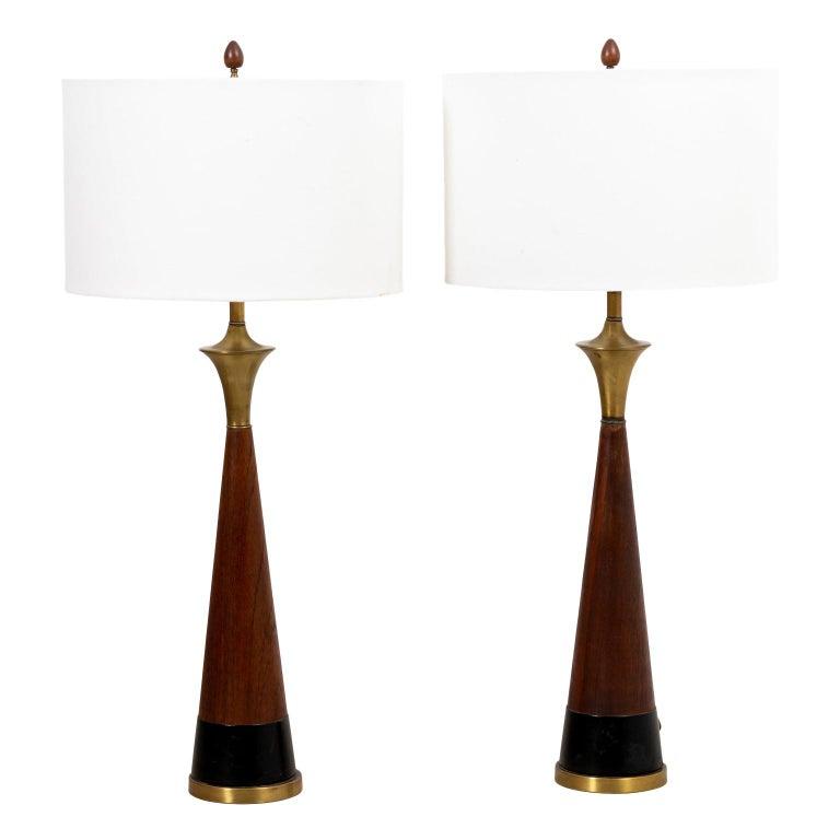 Pair of Mid Century Danish Lamps