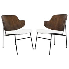 Pair of Midcentury Danish Modern IB Kofod Larsen Selig Penguin Chairs