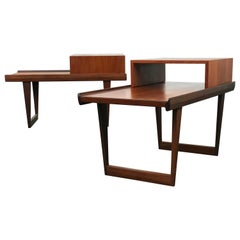 Mid Century Danish Modern End Tables by Peter Lovig Nielsen for Dansk