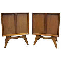 Pair of Midcentury Danish Modern Walnut Nightstands