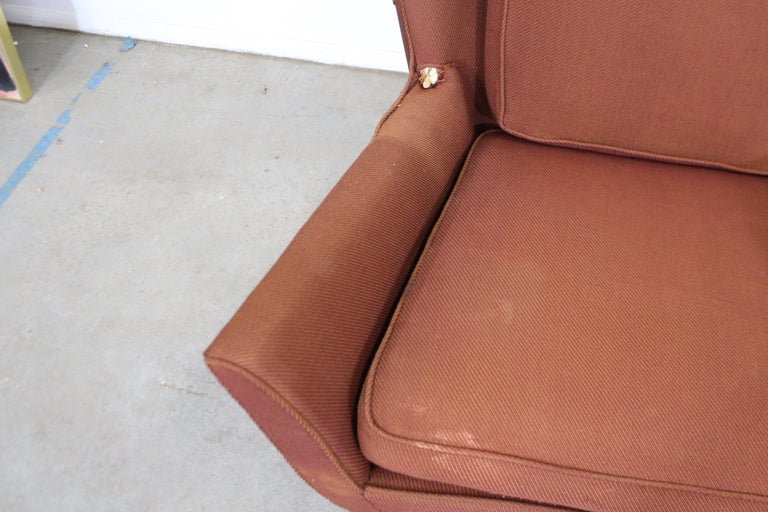 Upholstery Pair of Mid Century Danish Modern Wingback Lounge Chairs For Sale