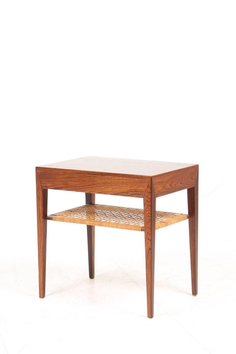 Pair of Midcentury Danish Nightstands in Rosewood by Severin Hansen, 1960s 5