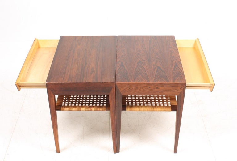 Pair of Midcentury Danish Nightstands in Rosewood by Severin Hansen, 1960s In Good Condition In Lejre, DK