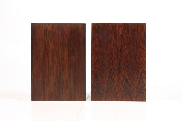 Pair of Midcentury Danish Nightstands in Rosewood by Severin Hansen, 1960s 1