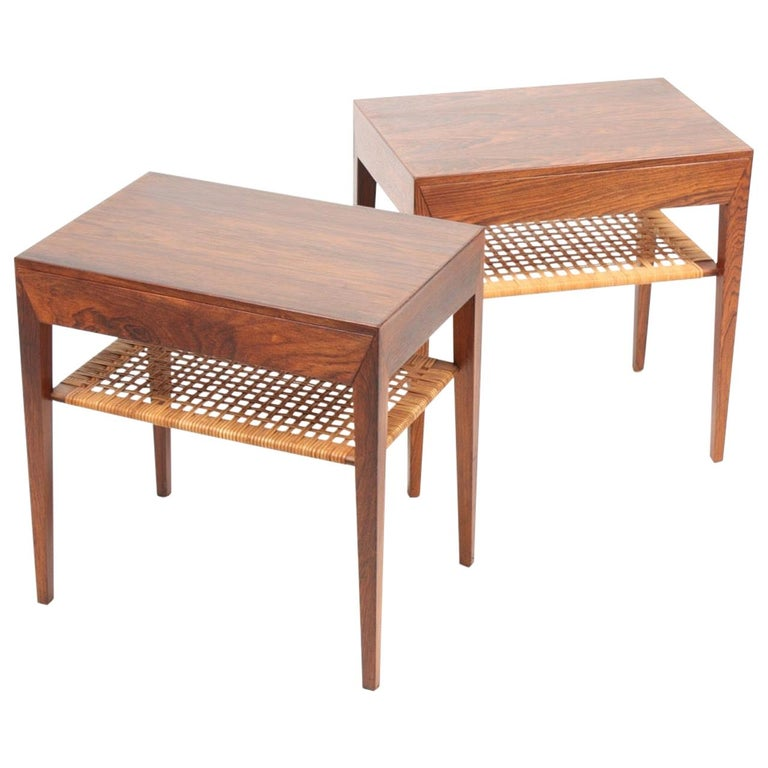 Pair of Midcentury Danish Nightstands in Rosewood by Severin Hansen, 1960s