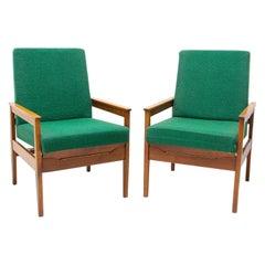 Pair of Mid Century Danish Style Armchairs, 1960's