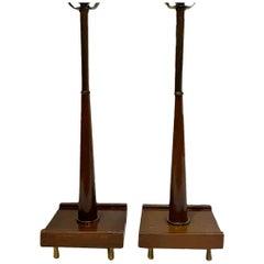 Pair of Mid Century Danish Table Lamps