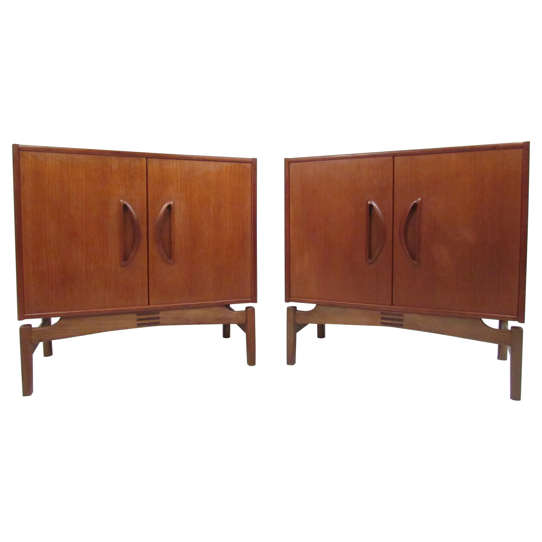 Pair of Midcentury Danish Teak Cabinets