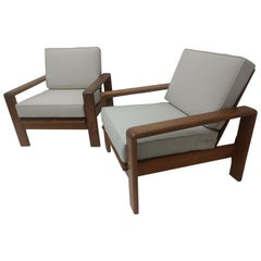 Pair of Midcentury Danish Teak Lounge Chairs, circa 1965