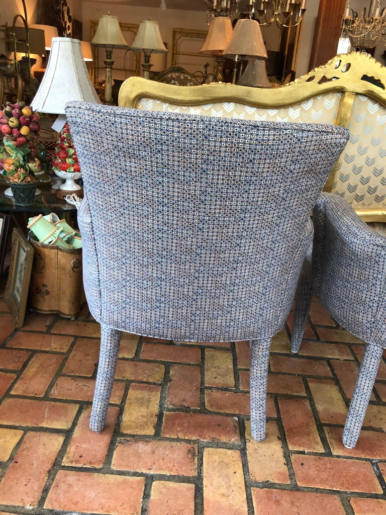 ON SALE -Pair of Mid-Century Danish Upholstered Chairs For Sale 5