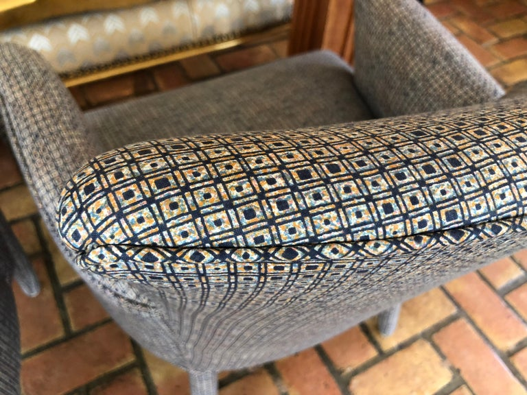 ON SALE -Pair of Mid-Century Danish Upholstered Chairs For Sale 7
