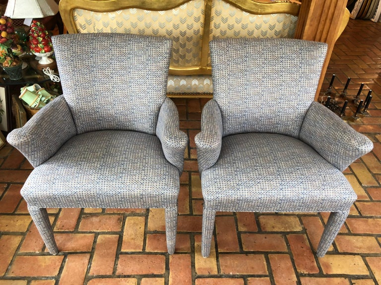 Mid-Century Modern ON SALE -Pair of Mid-Century Danish Upholstered Chairs For Sale