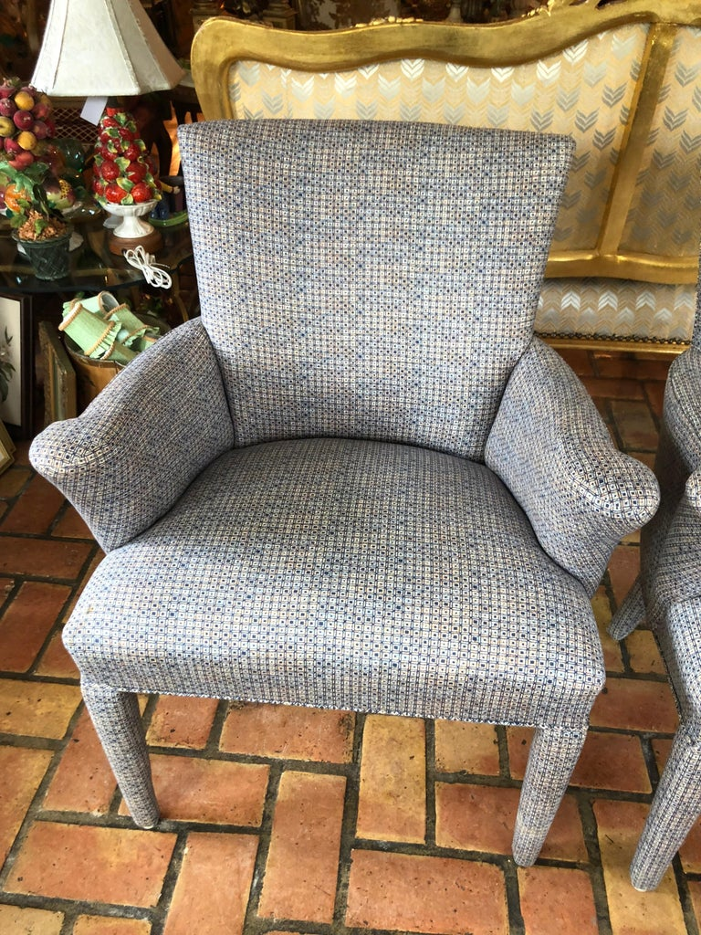 ON SALE -Pair of Mid-Century Danish Upholstered Chairs In Excellent Condition For Sale In Redding, CT