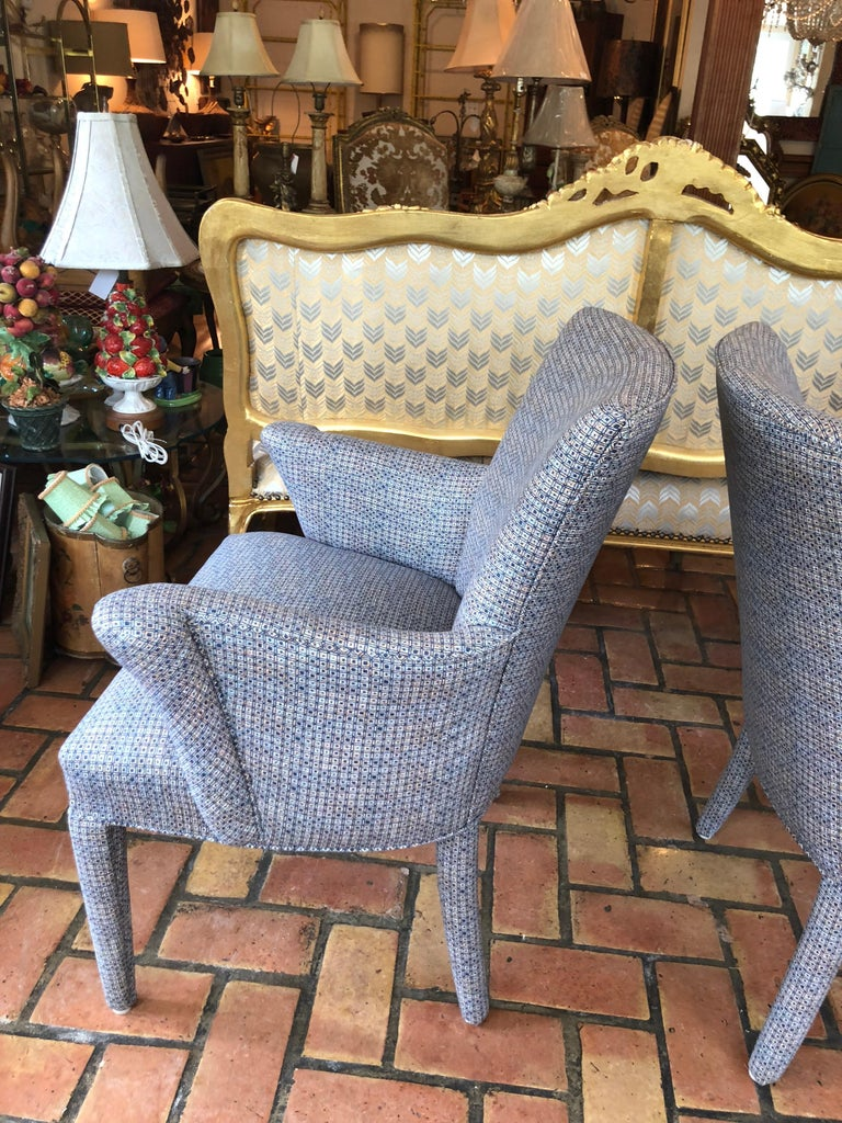 ON SALE -Pair of Mid-Century Danish Upholstered Chairs For Sale 2