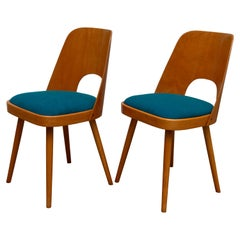 Pair of Mid Century Dining Chairs N.515 by Oswald Haerdtl for TON Company