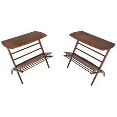 Pair of Mid Century Elm Side Tables