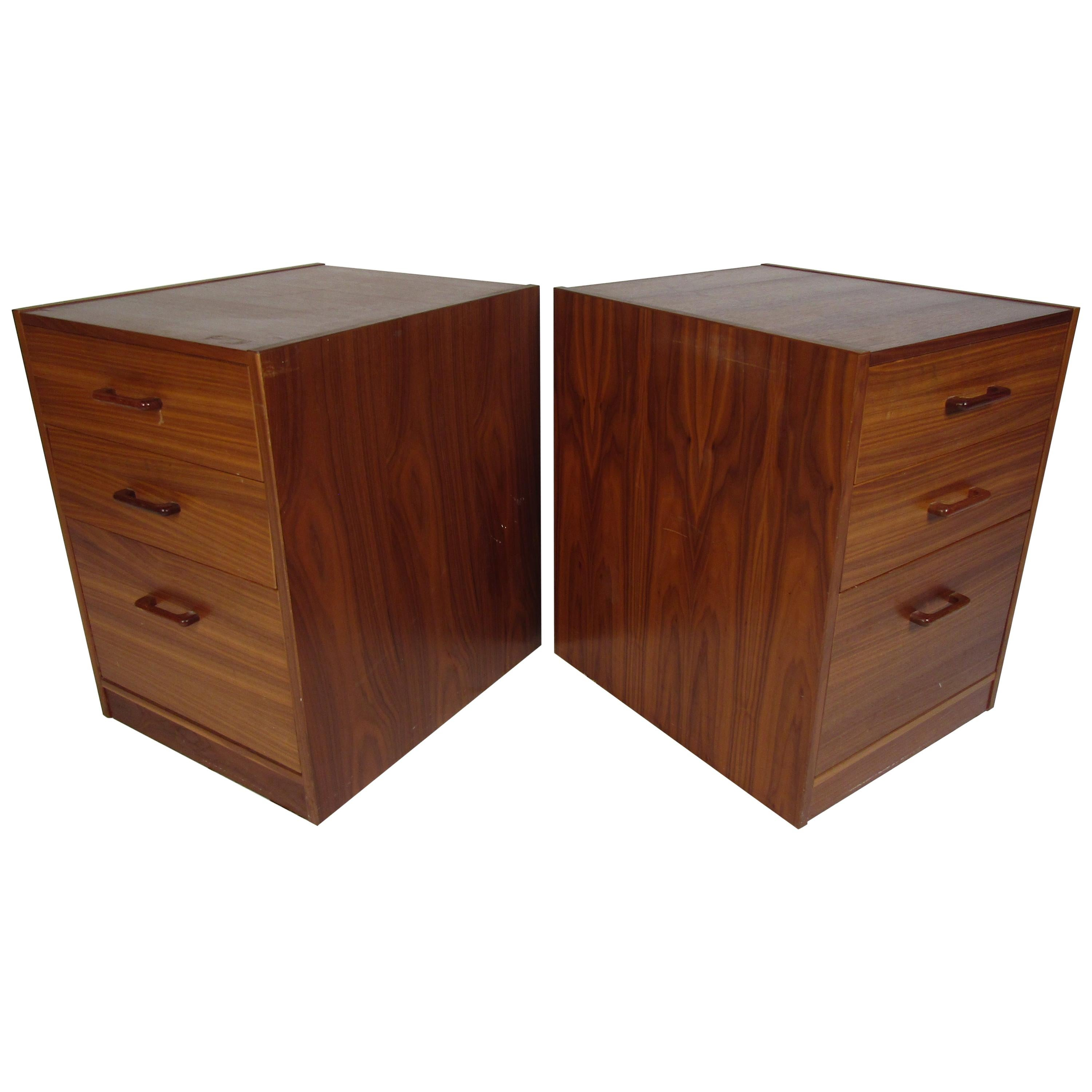 Pair of Midcentury File Cabinets