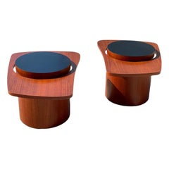 Pair of Mid Century Floating Side Tables by RS Associates in Teak for Expo 67