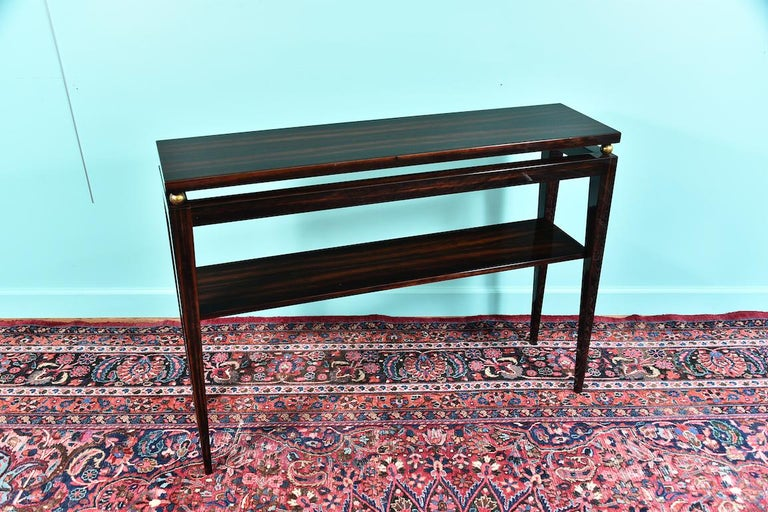 Midcentury French Console in Macassar For Sale 5