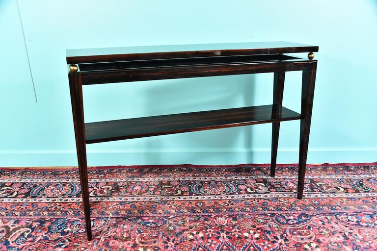 Midcentury French Console in Macassar For Sale 6