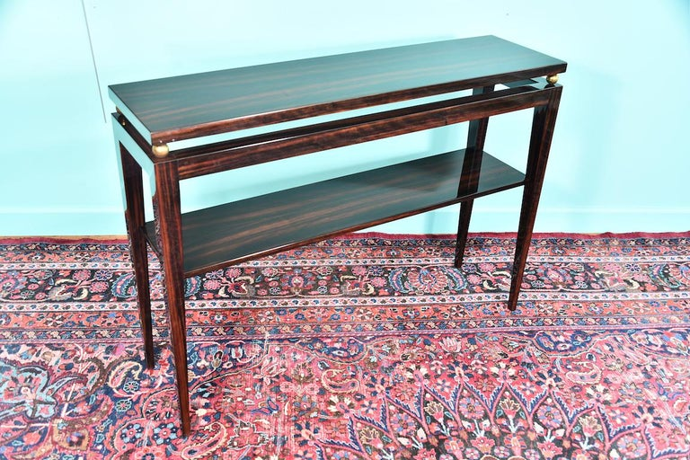 Mid-20th Century Midcentury French Console in Macassar For Sale