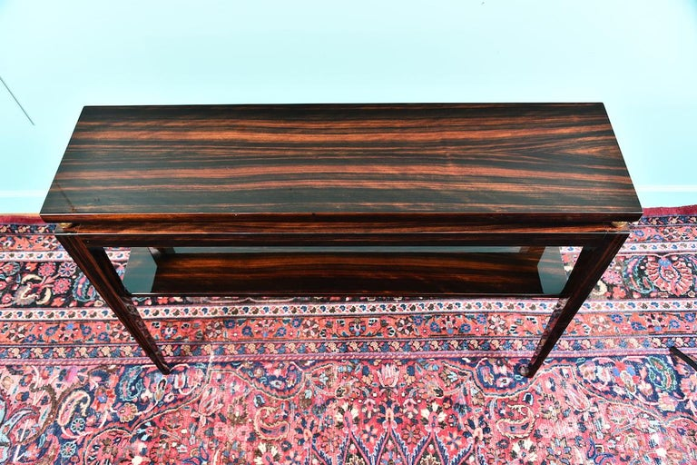 Midcentury French Console in Macassar For Sale 1