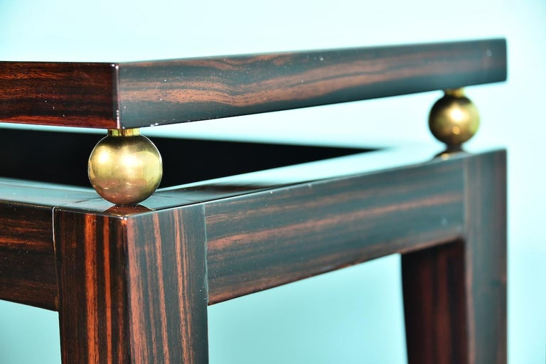 Midcentury French Console in Macassar For Sale 2