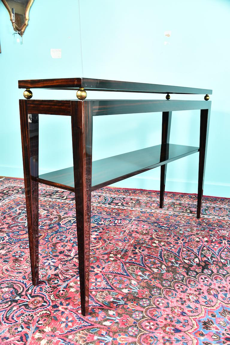 Midcentury French Console in Macassar For Sale 3