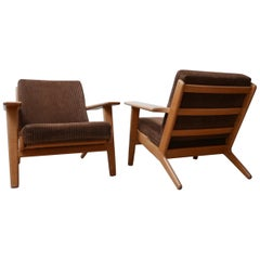 Pair of Midcentury Hans Wegener GE-290 Armchairs