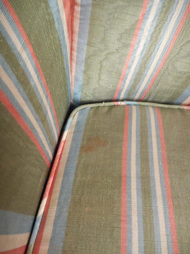 Pair of Midcentury High-Back Upholstered Chairs For Sale 3