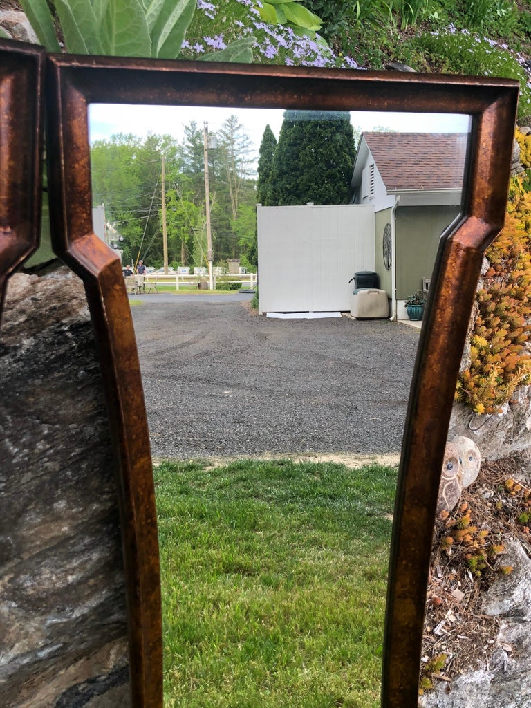 Pair of Mid Century Hour Glass Mirrors attributed to Weiman For Sale 8