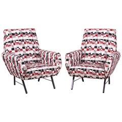 Pair of Midcentury Italian Armchairs, 1960s