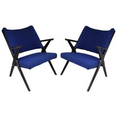 Pair of Midcentury Italian Armchairs by Dal Vera, 1950s