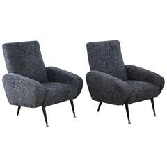 Pair of Midcentury Italian Armchairs