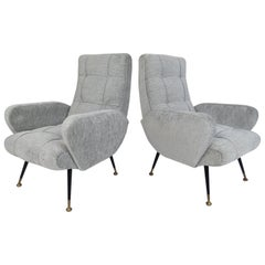 Pair of Midcentury Italian Lounge Chairs