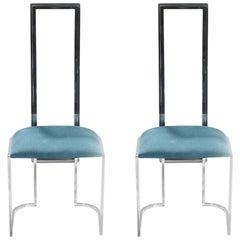 Pair of Midcentury Italian Lucite Green Chairs, 1970s