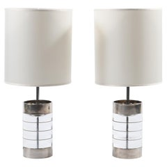 Pair of Midcentury Italian Lucite Table Lamps