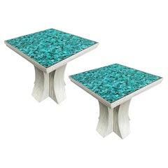 Pair of Mid Century Italian Mosaic Tables