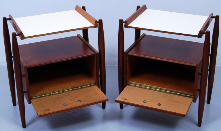 Mid-20th Century Pair of Midcentury Italian Nightstands by Dal Vera, 1960s For Sale