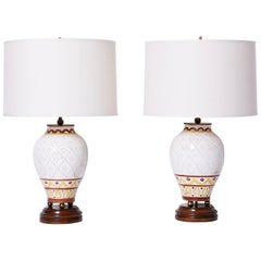 Pair of Midcentury Italian Pottery Table Lamps